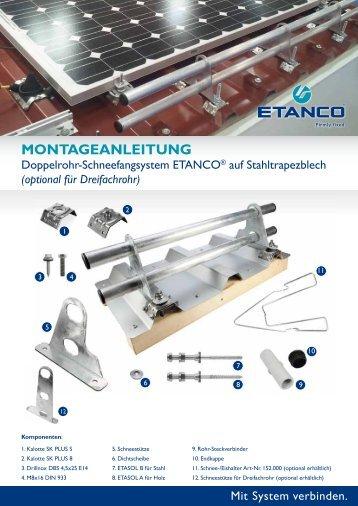 MONTAGEANLEITUNG - Etasol-solar-zubehoer.de