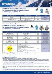 SK TRAPEZBLECH ab €29,00/KwP - Etasol-solar-zubehoer.de
