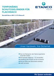 Temporäres Schutzgeländer - Etasol-solar-zubehoer.de