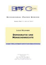 Demokratie und Menschenrechte - ETC Graz