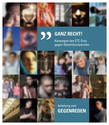 Anleitung zum GEGENREDEN - ETC Graz