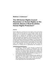 The UN Human Rights Council Resolution on Human ... - ETC Graz