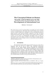 The Conceptual Debate on Human Security and its ... - ETC Graz
