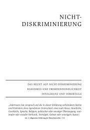 NICHT- DISKRIMINIERUNG - ETC Graz