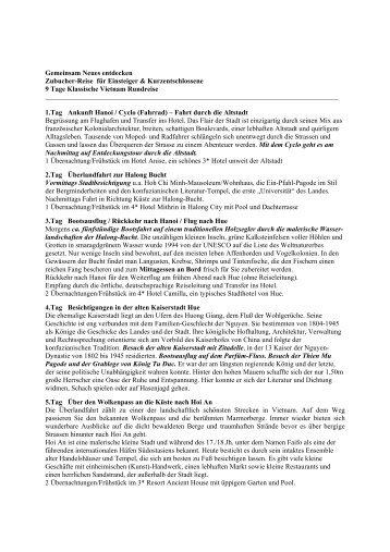 Das detaillierte Reiseprogramm als PDF - ETC Reisen