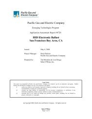 HID Electronic Ballast - Emerging Technologies Coordinating Council
