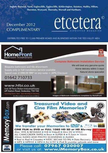 December 2012 - Etceteramag.co.uk