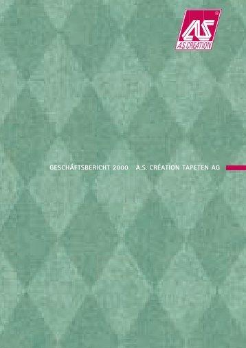 BERICHT DES AUFSICHTSRATS - AS Création Tapeten AG
