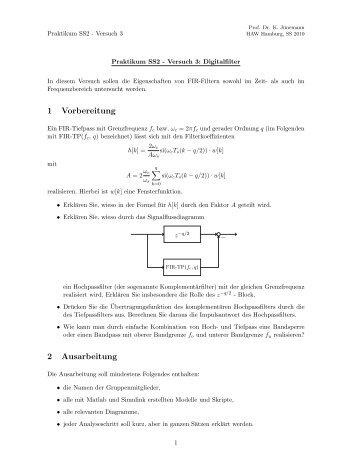 1 Vorbereitung 2 Ausarbeitung - etech – HAW Hamburg
