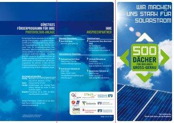 Informations-broschüre 500-Dächer-Programm (PV-Anlagen)