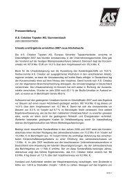 Pressemitteilung jahresabschluss 2007  deutsch - AS Création ...
