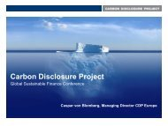 Carbon Disclosure Project – the World Largest Investor ...