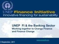 Changing Finance - Financing Change