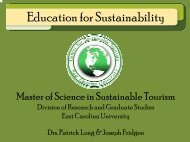 Master of Science degree in Sustainable Tourism - Etech-Center for ...