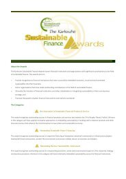 Karlsuhe Sustainable Finance Awards - Etech-Center for Applied ...