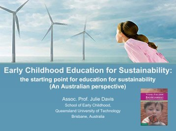 Early Childhood Education for Sustainability: - Etech-Center for ...