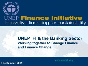 Changing Finance - Financing Change