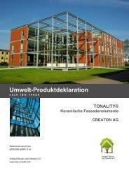 Umwelt-Produktdeklaration - Eternit AG