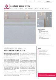 schönes beschützen detailreport zur messe dach+holz 2010