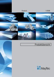 Vibrations- sicher - Maytec Aluminium Systemtechnik Gmbh