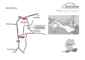 How to find us. - ASCONA