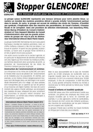 Stopper GLENCORE! (PDF-Datei) - Ethecon