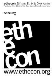 Satzung der Stiftung ethecon
