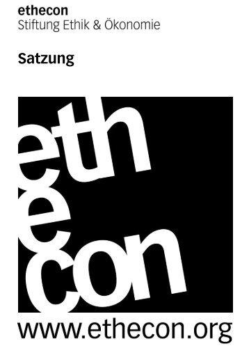 Satzung - Ethecon