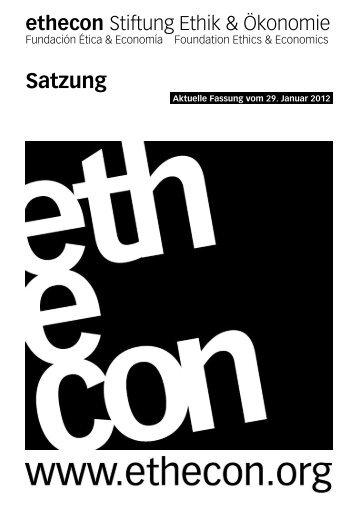 Satzung (PDF-Datei) - Ethecon