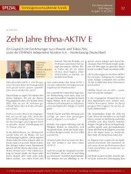Zehn Jahre Ethna-AKTIV E - Ethenea