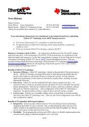 ETG TI Press Release - EtherCAT