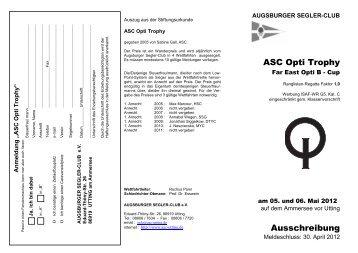 Opti Trophy 2012 - ASC