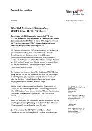 EtherCAT Technology Group auf der SPS IPC Drives 2012 in ...