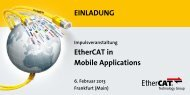 EinlAdunG EtherCAT in Mobile Applications