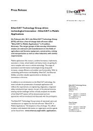 EtherCAT in Mobile Applications - EtherCAT Technology Group