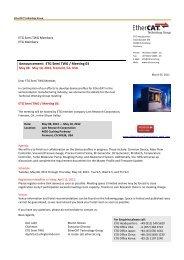 Announcement: ETG Semi TWG / Meeting 03 - EtherCAT