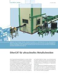 Metallschneidemaschinen - EtherCAT