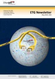 ETG Newsletter #23 - EtherCAT Technology Group