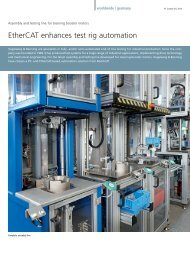 Assembly and testing line for steering booster motors - EtherCAT