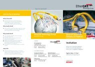Invitation Flyer: Download and forward - EtherCAT
