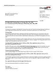 EtherCAT Technology Group Member Companies ETG EtherCAT ...