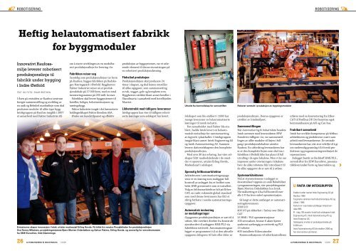 Heftig helautomatisert fabrikk for byggmoduler - EtherCAT