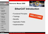 EtherCAT Introduction WELCOME