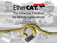 EtherCAT in Mobile Applications