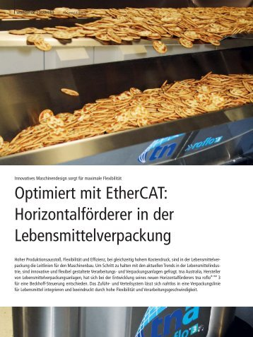 tna Packaging and Processing Solutions - EtherCAT