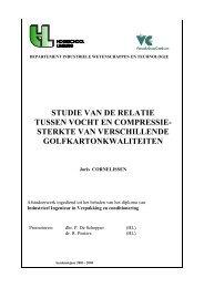 studie van de relatie tussen vocht en compressie - E-thesis