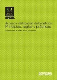 Principios, reglas y prácticas - the Union for Ethical BioTrade