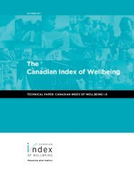 Canadian Index of Wellbeing - Ethical Markets