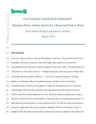 Can Corporate Capitalism be Redeemed ... - Ethical Markets