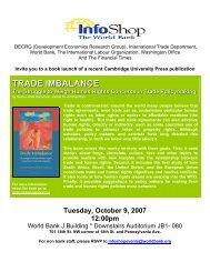 International Trade Department, World Bank - Ethical Markets